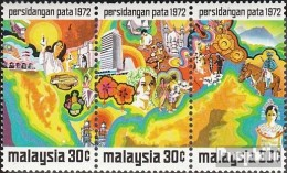 Malaisie 94-96 Bande De Trois (complète.Edition.) Neuf Avec Gomme Originale 1972 Conférence PATA - Malaysia (1964-...)
