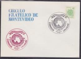 Uruguay 1985 Circulo Filatelico De Montevideo / Ca Map Of Antarctica (31308) - Uruguay