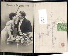 84212,EAS Neujahr Liebespaar Sekt Sektflasche Glas Blumen - Fotografie