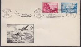 Argentina 1973 1st Flight Of Hercules C-130 To Antarctica Argentina, Label,  Ca 15 Abr 1973 Cover (31309) - Poolvluchten
