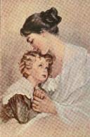 4795. CPA ILLUSTRATEUR A. SCHWARTZ. LA PRIERE DU SOIR. FEMME ET ENFANT - 1900-1949