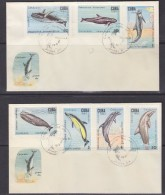 Cuba 1984 Dolphins 7v On 2 FDC (31311) - FDC