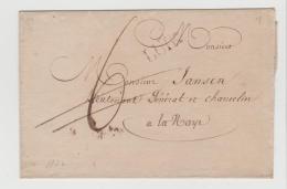 B056 / Luik Einzeiler 1822 Auf Briefhülle Mit Tax-Korrektur Nach La Haye NL - 1815-1830 (Holländische Periode)