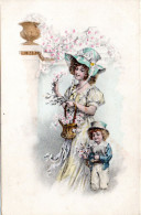 4799. CPA ALLEMAGNE ILLUSTRATEUR. FEMME ENFANT ET FLEURS - 1900-1949