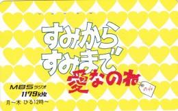 Japan, 110-011, Card Number 373, MBS 1179kHz, Hearts. - Japan