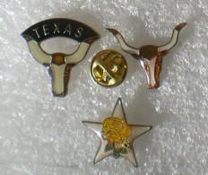 TEXAS 3 PIN'S    ZZZ   031 - Städte
