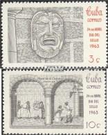 Cuba 843-844 (complète.Edition.) Neuf Avec Gomme Originale 1963 Jour Le Timbre - Cuba