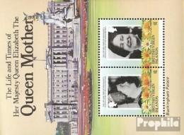 Jungferninseln Bloc 24 (complète.Edition.) Neuf Avec Gomme Originale 1985 Reine Mère Elizabeth - Iles Vièrges Britanniques