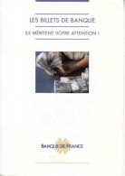 1 DÉPLIANT DE PRÉSENTATION 2 VOLETS DES BILLETS FRANÇAIS DOCUMENTATION BANQUE DE FRANCE ILS MÉRITENT VOTRE ATTENTION ! - Specimen