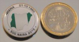 Nigeria 2015 Bimetal Couleurs Drapeau - Nigeria