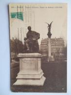 """CPA """"Paris - Square D'Anvers - Statue De Diderot (1713-1784)"""" - Parks, Gardens"""
