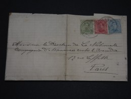 BELGIQUE - Env Pour Paris Affr. Tricolore - 1919 - A Voir - P19546 - 1915-1920 Albert I