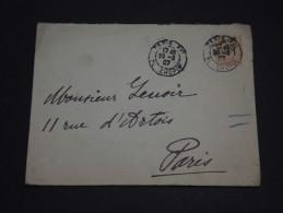 FRANCE - Env Entier Taxe Perçue Pour Paris - 1907 - A Voir - P19549