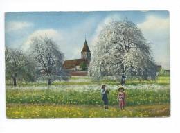 Enfants Dans Un Verger 1917 - Cartes Postales