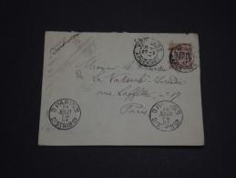 FRANCE - Env Entier Taxe Perçue Pour Paris - 1907 - A Voir - P19550