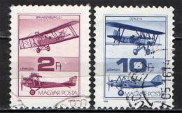 UNGHERIA - 1988 - STORIA DELL'AVIAZIONE UNGHERESE - USATI - Posta Aerea