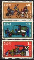 UNGHERIA - 1970 - STORIA DELL'AUTOMOBILE - USATI - Posta Aerea