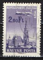 UNGHERIA - 1966 - CINQUANTENARIO DEL VOLO POSTALE BUDAPEST VIENNA - USATO - Posta Aerea