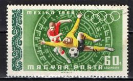 UNGHERIA - 1966 - CALCIO: OLIMPIADI DEL MESSICO - USATO - Posta Aerea