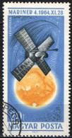 UNGHERIA - 1965 - NAVICELLA MARINER IV - STATI UNITI - USATO - Posta Aerea