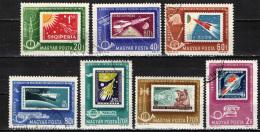 UNGHERIA - 1963 - FRANCOBOLLI TEMATICA SPAZIO - CONFERENZA POSTALE - USATI - Posta Aerea
