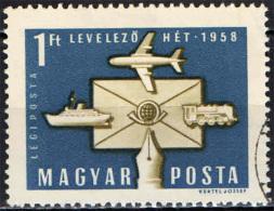 UNGHERIA - 1958 - CONFERENZA DEI MINISTRI DELLE POSTE DEI PAESI COMUNISTI - USATO - Posta Aerea
