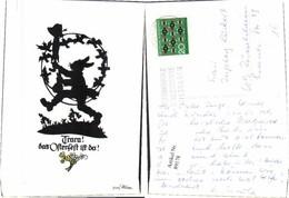 89178,Plischke Scherenschnitt Ostern Osterhase - Scherenschnitt - Silhouette