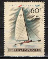 UNGHERIA - 1955 - VELA SUL GHIACCIO - USATO - Posta Aerea