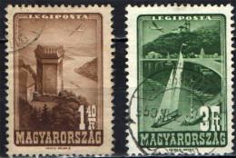 UNGHERIA - 1947 - AEREO CHE PLANA SUL LAGO BALATON - USATI - Posta Aerea