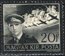 UNGHERIA - 1942 -MORTE DEL VICE REGGENTE STEFANO HORTY - USATO - Posta Aerea