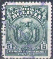 Bolivia 1925 CEFIBOL 165p Usado . Escudo. Perfin Cancelado. 2 Scan. See Desc. - Bolivia