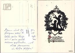 89246,Scherenschnitt Plischke 311 Kinder Spruch Weihnachten - Scherenschnitt - Silhouette