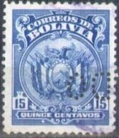 Bolivia 1925 CEFIBOL 166p Usado . Escudo. Perfin Cancelado. See Desc. - Bolivia