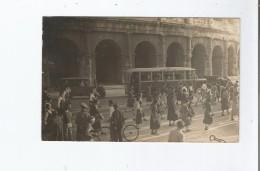 ROME 1934 CARTE PHOTO DEPLACEMENT DE LA JOCF (JEUNESSE OUVRIERE CHRETIENNE FEMININE) - Colisée