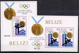 K 225 BELIZE  XX  YVERT NRS BLOKKEN 26/27 ZIE SCAN - Stamps