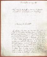 BENDORF 1817 Mr. Valck Joseph Scierie  Lettre En Franchise - Marcophilie (Lettres)