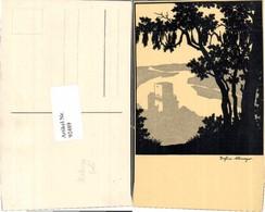 92489,Josefine Allmayer Scherenschnitt Wachau Weitenegg - Scherenschnitt - Silhouette