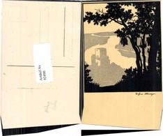 92490,Josefine Allmayer Scherenschnitt Wachau Weitenegg - Scherenschnitt - Silhouette