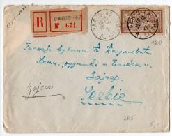 50c Merson Sur Lettre Recommandée De 1921 Pour La SERBIE - Marcophilie (Lettres)