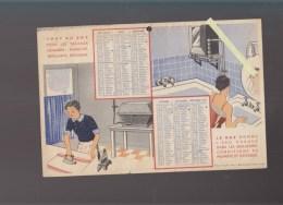 Calendrier 1937 - Tout Au Gaz Pour Les Travaux Menagers - Repassage, Cuisine, Toilette - Other