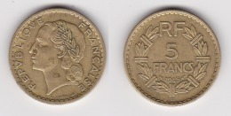 5 FRANCS LAVRILLIER 1945 C Bronze D´alu TTB (voir Scan) - France