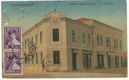Gura Humorului Edificiul Telegrafopostal K. Postamt Post Office Used Gura To Cuba Daniel Kimelmann Bucovine Judaica - Roumanie