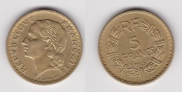 5 FRANCS LAVRILLIER 1945 C Bronze D´alu SUPERBE (voir Scan) - J. 5 Franchi