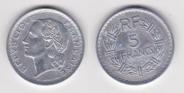 5 FRANCS LAVRILLIER Aluminium 1945 C SUPERBE (voir Scan) 2 - J. 5 Franchi