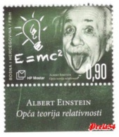 Bosnia Croatian Post - 100th Years Of Albert Einstein´s General Theory Of Relativity 2016  MNH - Bosnia And Herzegovina