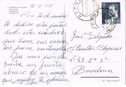 18802. Postal HORNA (Guadalajara) 1985. Vista De Siguenza - 1981-90 Storia Postale