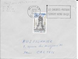 N° 1925 EUROPA FRANCE  -  TARIF DU 15.05.78 AU 30.09.79  LETTRE ECO   - 1978  - SEUL SUR LETTRE - Marcophilie (Lettres)