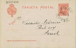 18806. Entero Postal GIJON (Oviedo) 1905. Variedad Edifil Num 45c - Enteros Postales