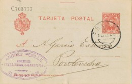 18807. Entero Postal ORENSE 1906. Variedad Impresion - Stamped Stationery