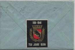 1938 San Salvatore 215y - Mit Vignette 750 Jahre Bern - Von Neuchatel Nach Basel - Covers & Documents